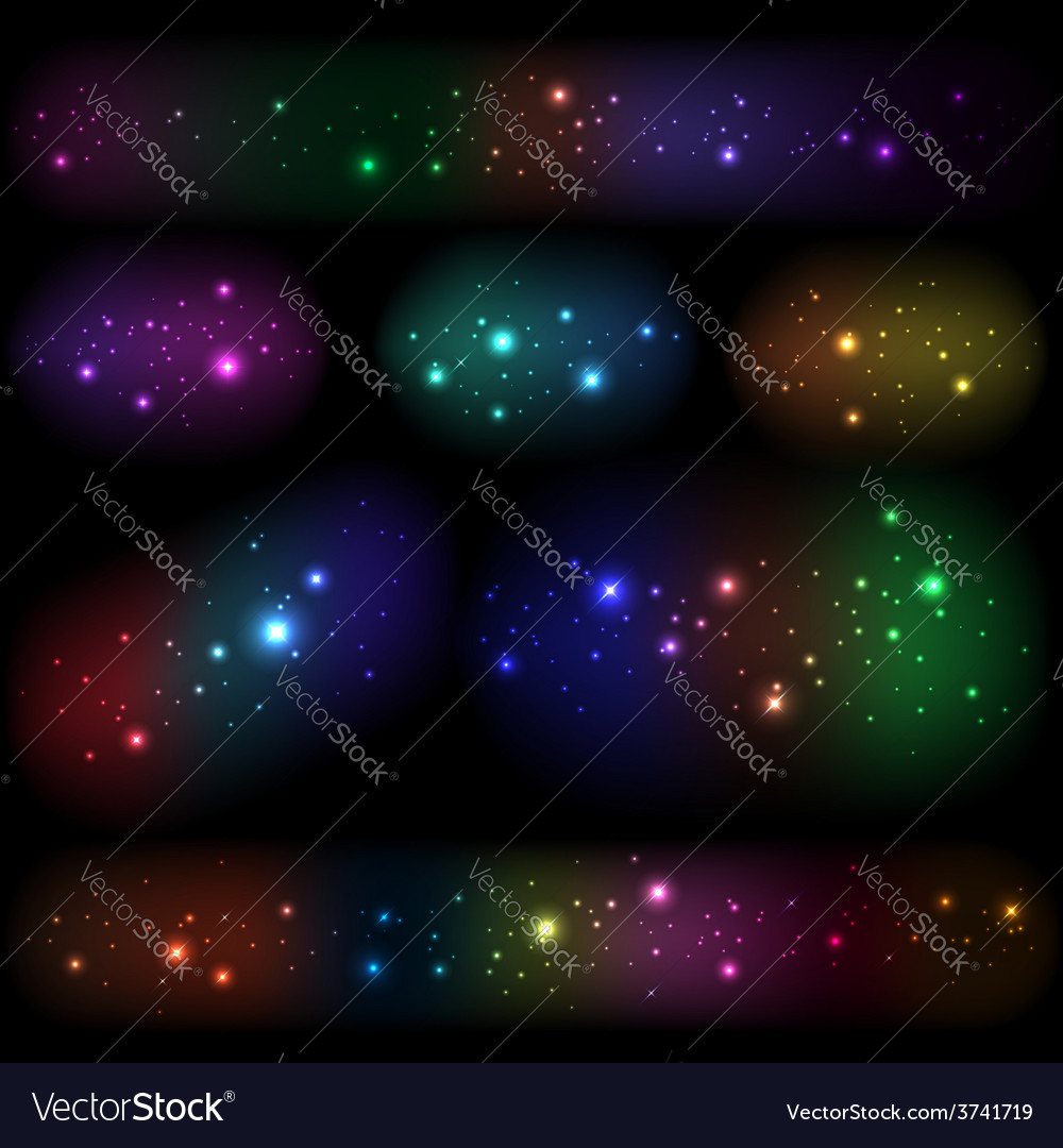 Collection of different luminous elements vector