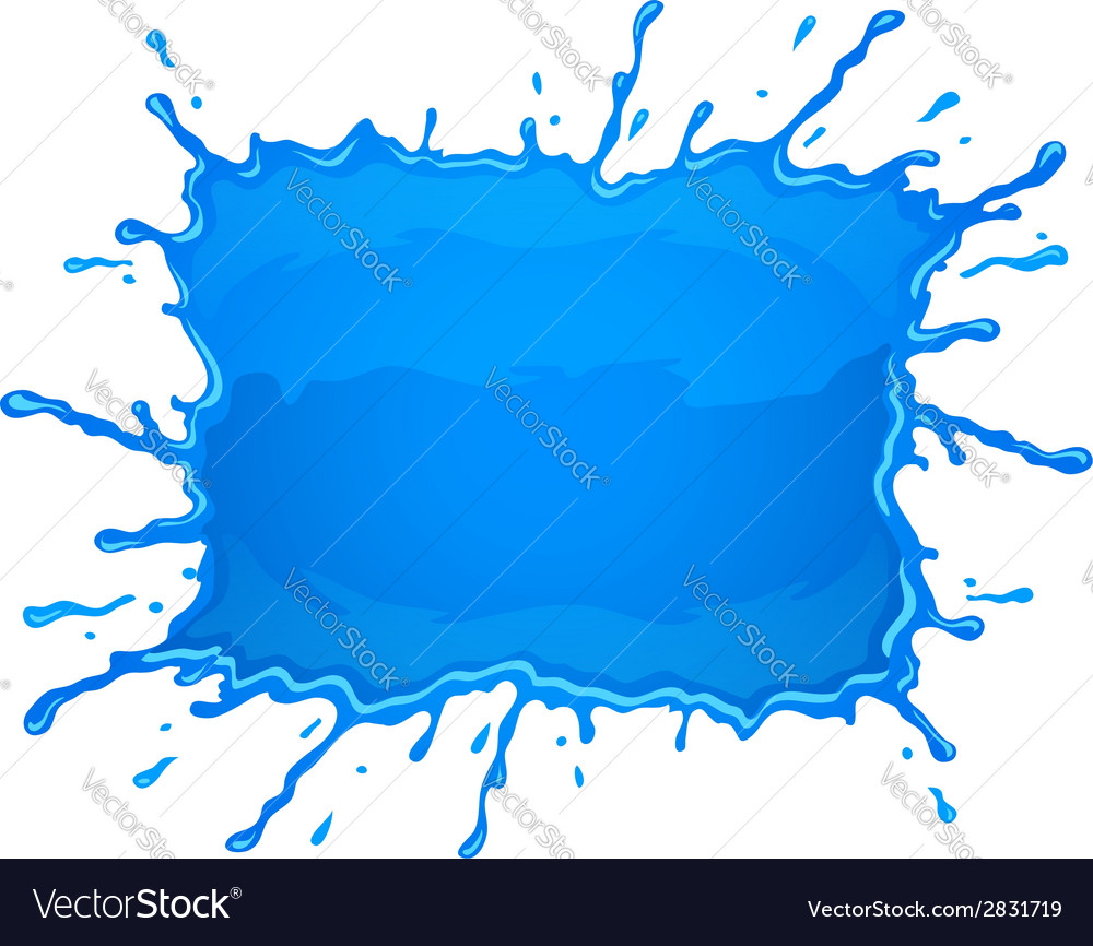 Water blob splash with blue vector
