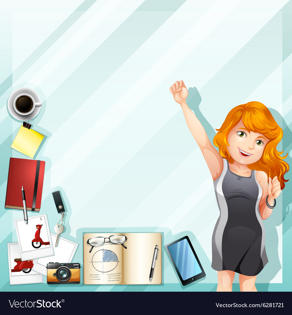 Businesswoman and other accessories vector