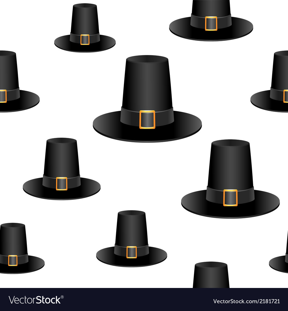 Pilgrim hat background vector