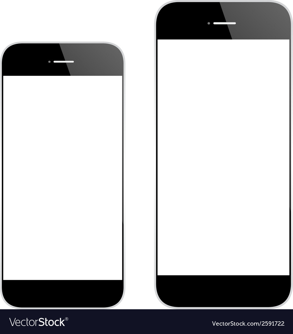 Black mobile phone similar iphone6 vector