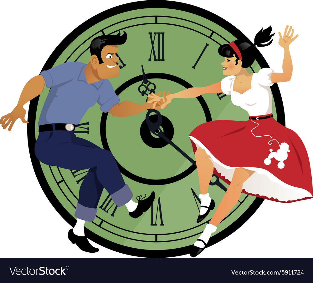Rock around the clock vector
