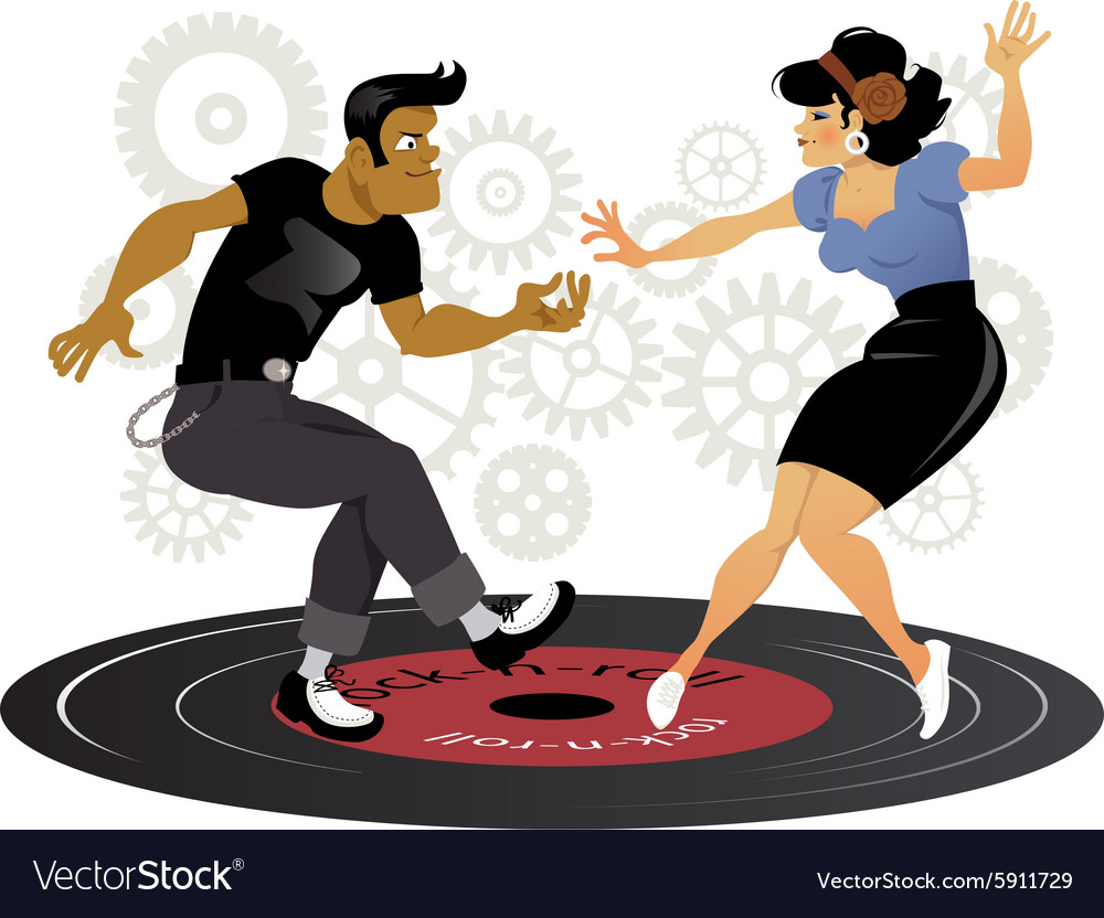 Rockabilly cool vector