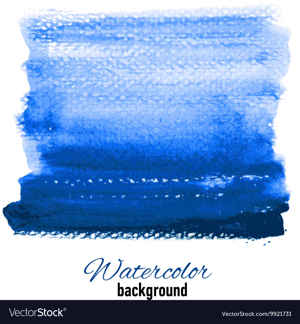 Hand drawn watercolor background for presentation vector