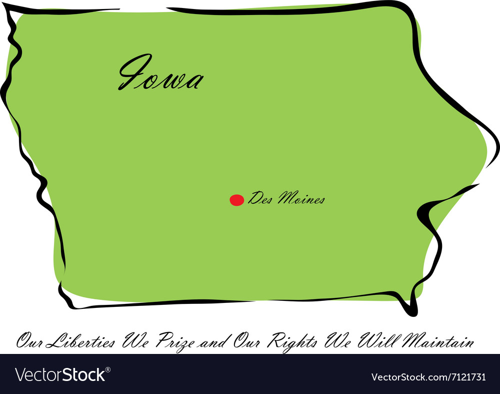 State of iowa vector