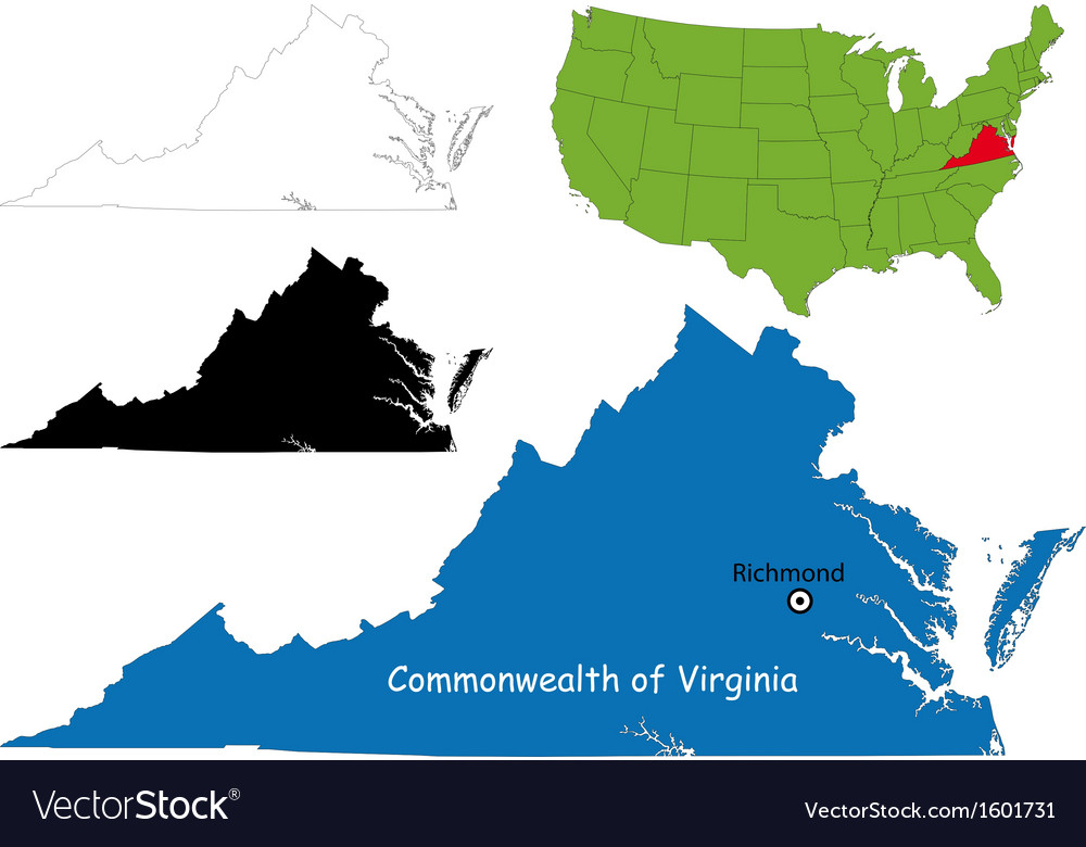 Virginia map vector