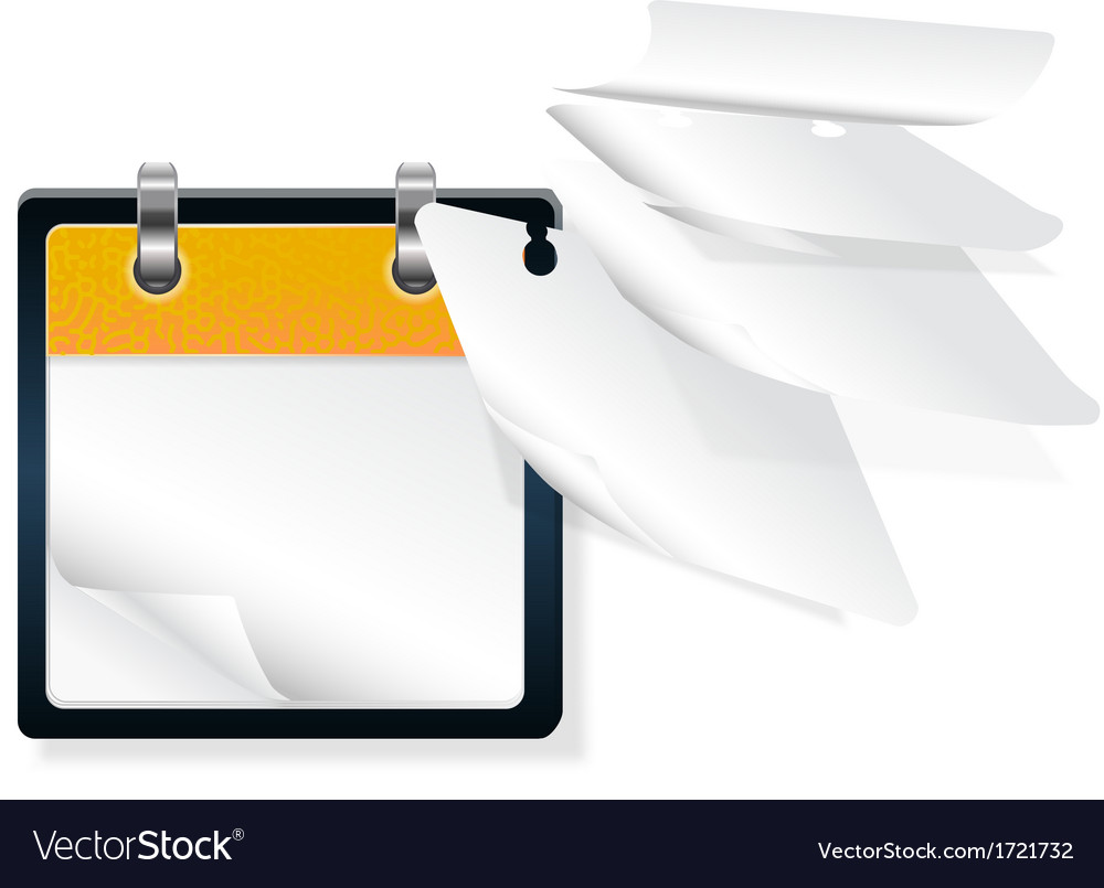 Calendar with flying pages vector
