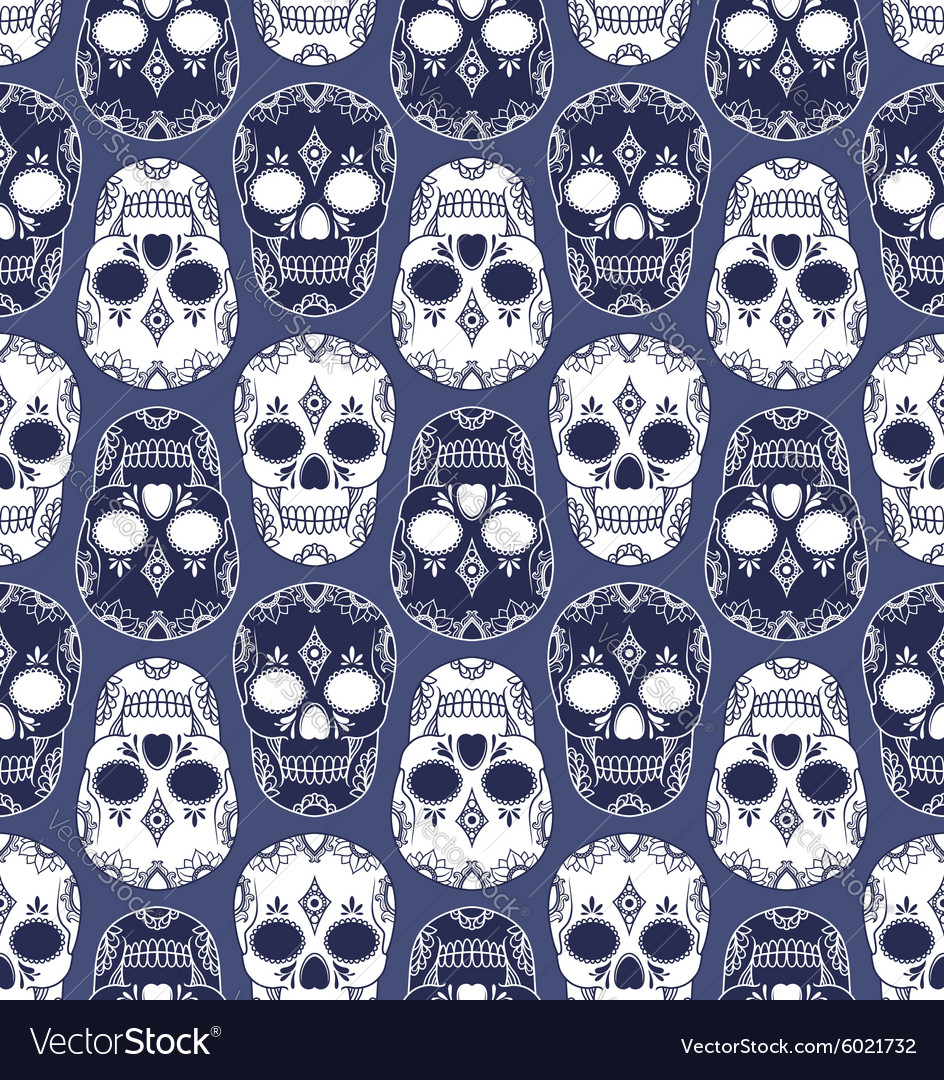 Skull pattern design vector