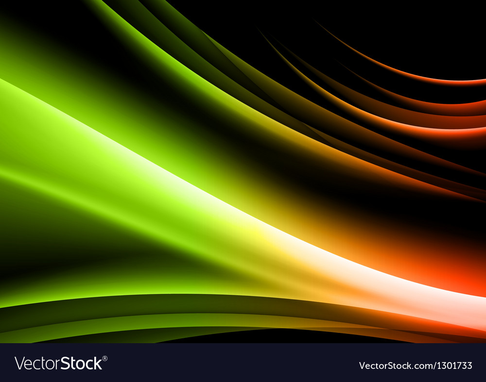 Abstract shape black green vector
