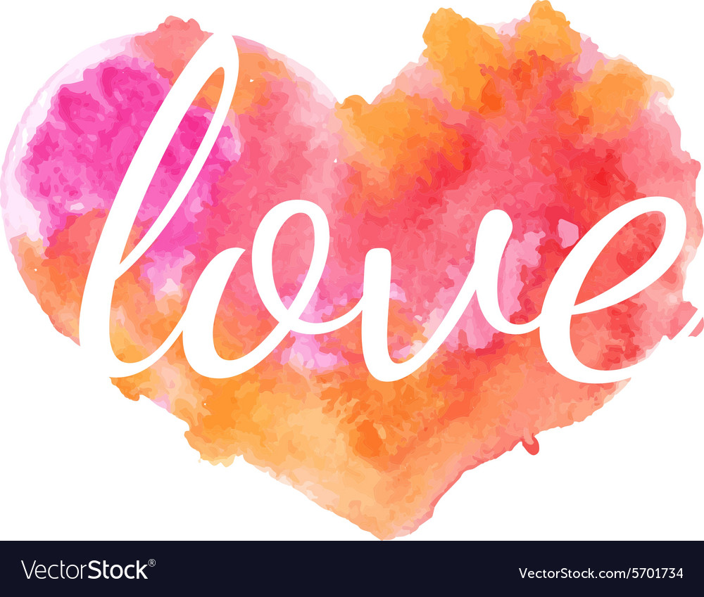 Beautiful watercolor heart vector