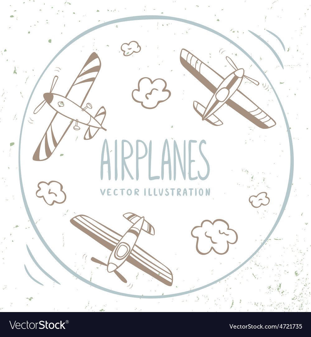 Airplanes around vector