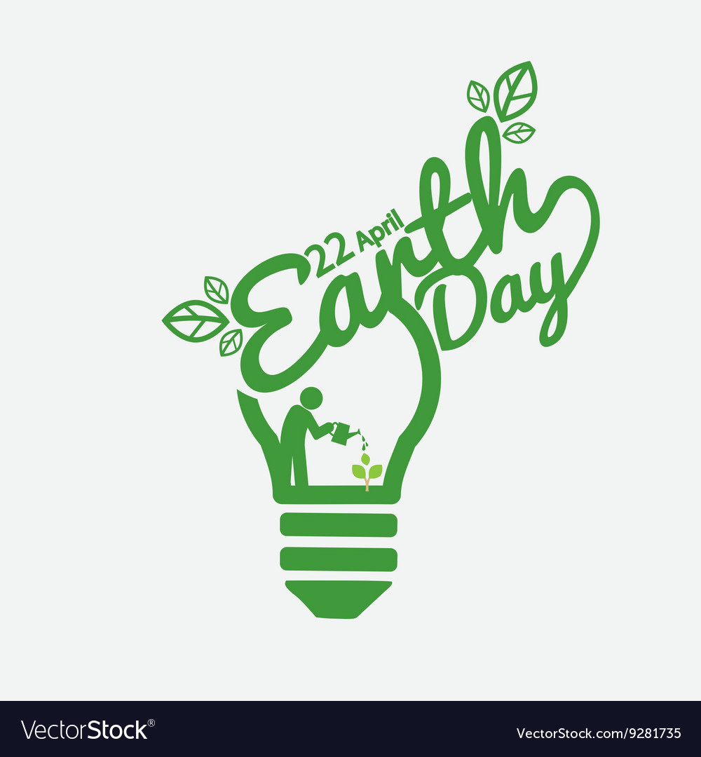 April 22nd earth day vector