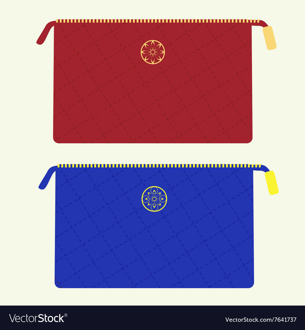 Cosmetic bag vector