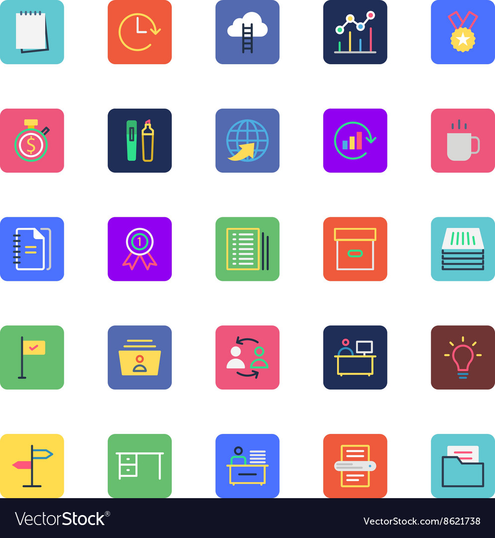 Businessoffice and marketing colored icon5 vector