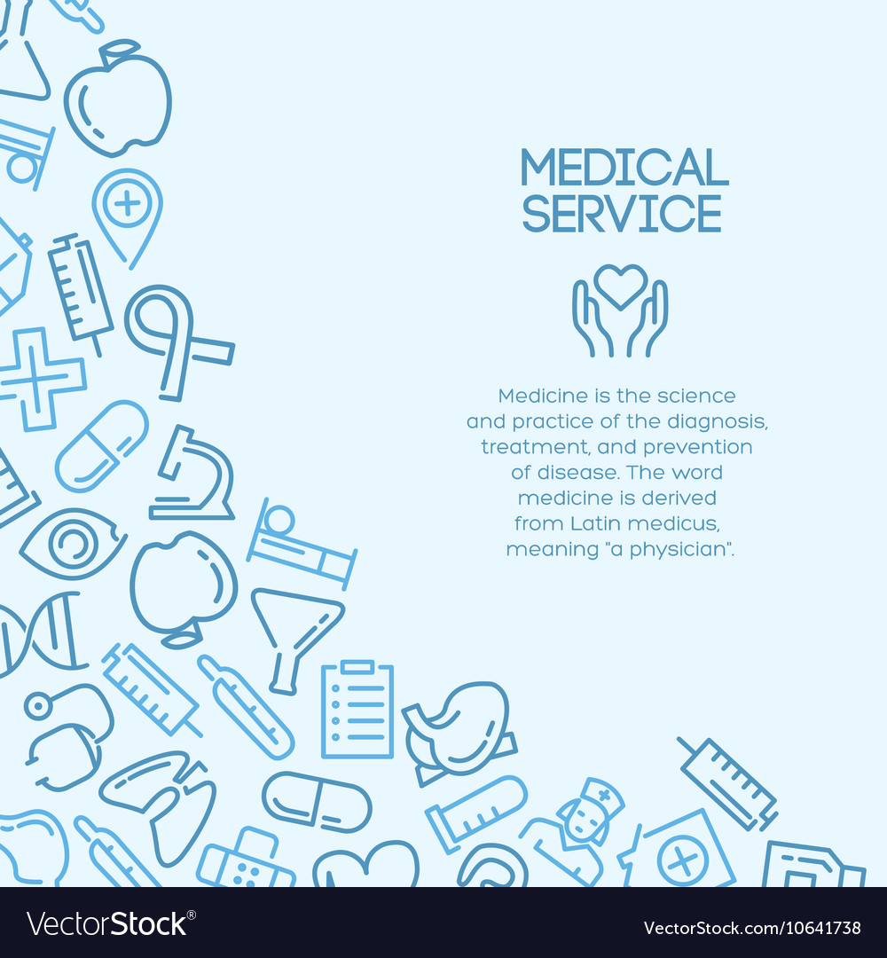 Medical service background vector