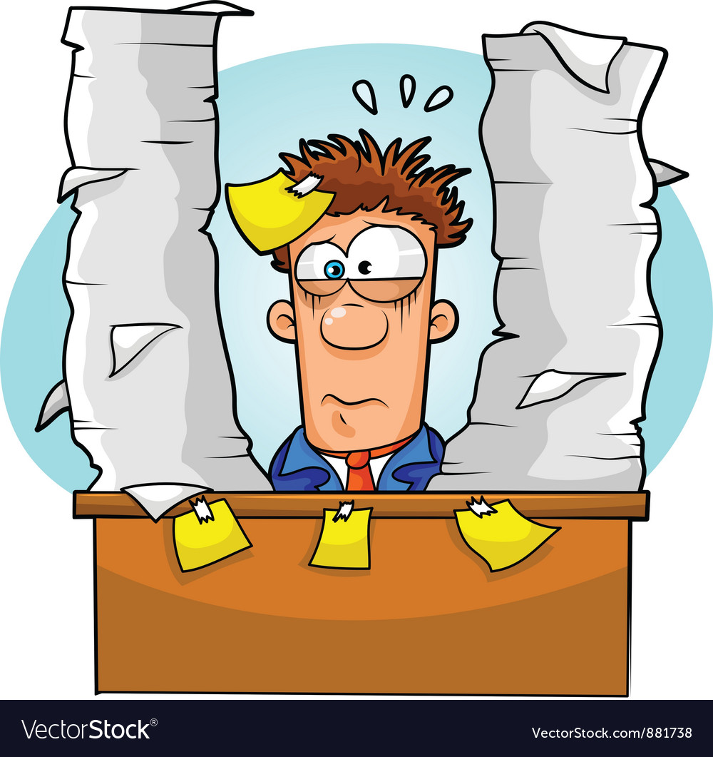Overwhelmed worker vector