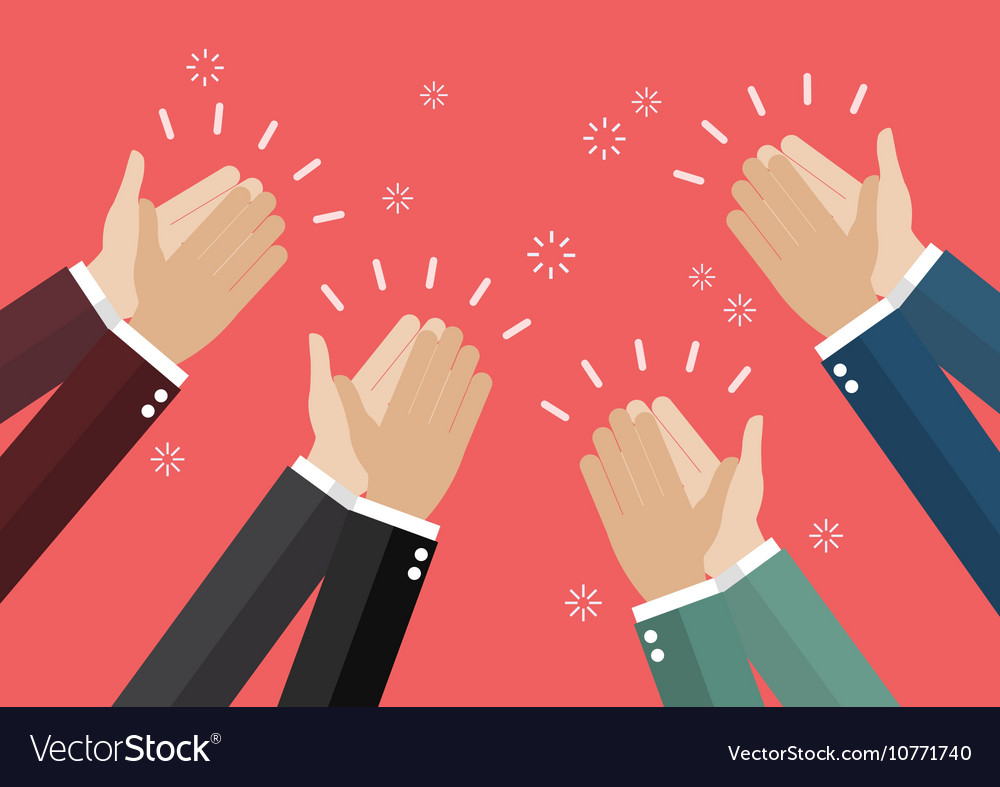 Human hands clapping vector