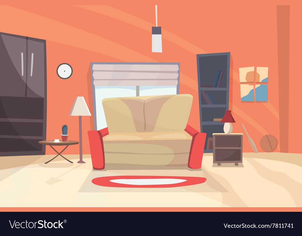 Living room cartoon eps 10 vector