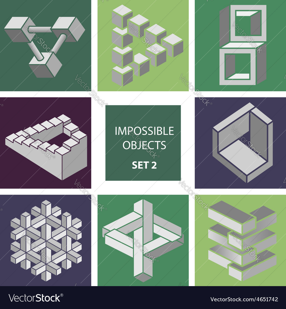 Impossible objects set 2 vector