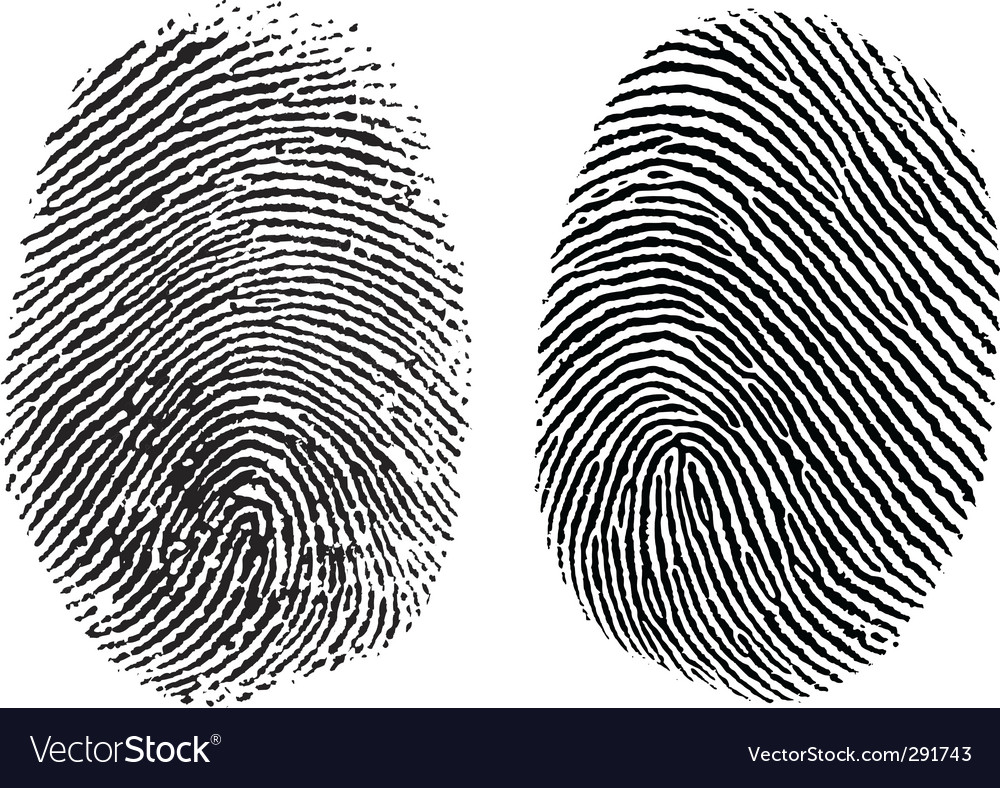 Finger prints vector