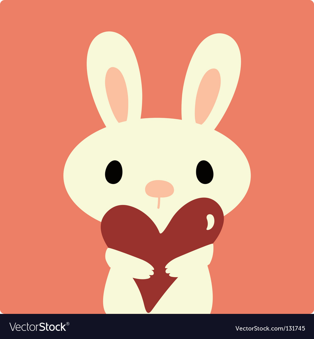 Rabbit with love vector