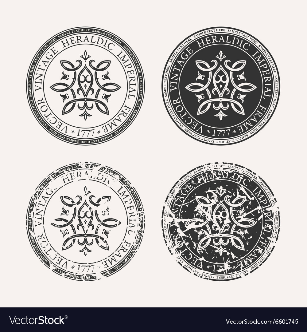 Vintage retro set grunge stamp collection vector
