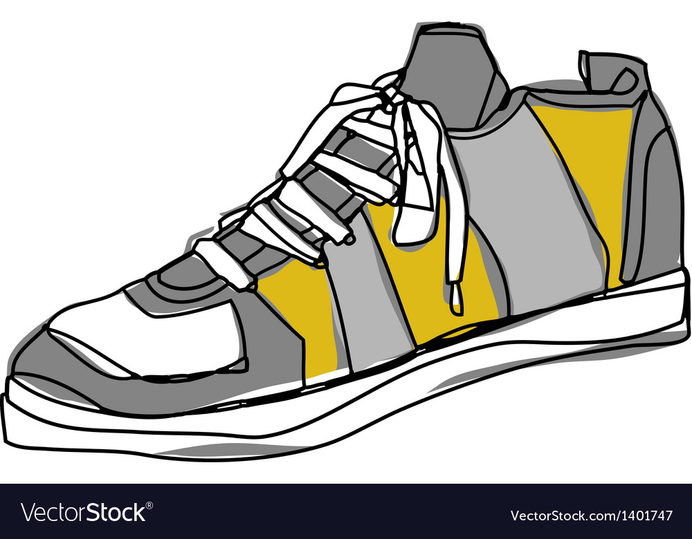 A shoe is placed vector