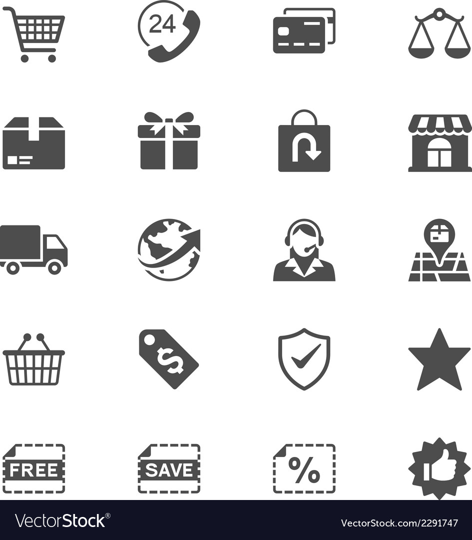 Ecommerce flat icons vector