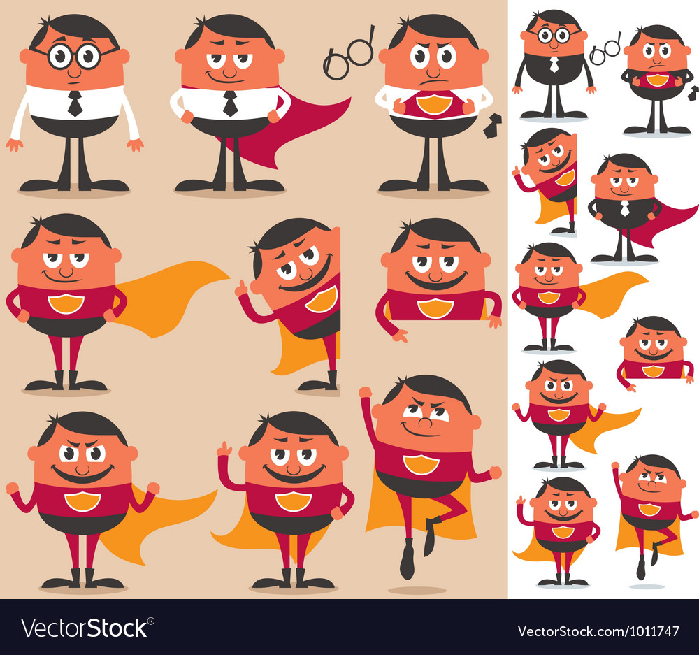 Superhero set vector