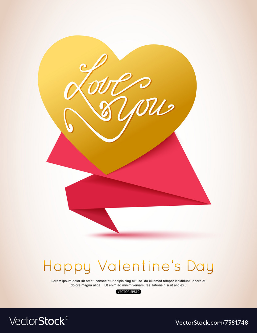 Happy valentines day flyer valentines day vector