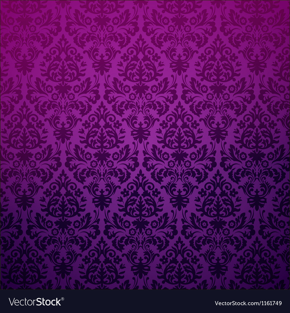 Damask vintage floral background pattern vector