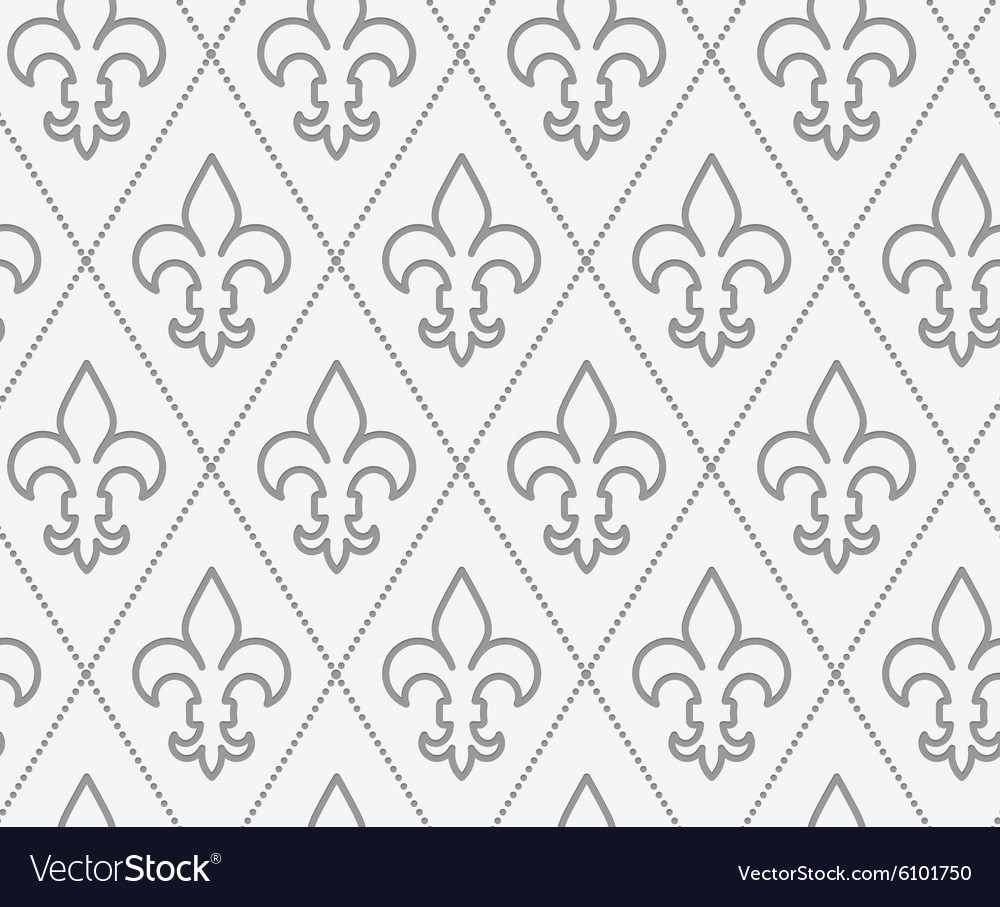 Perforated countered fleurdelis vector