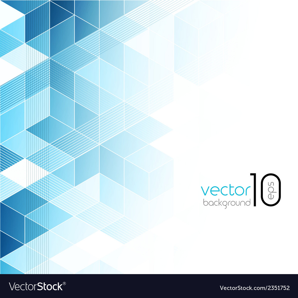 Abstract blue cubes background vector
