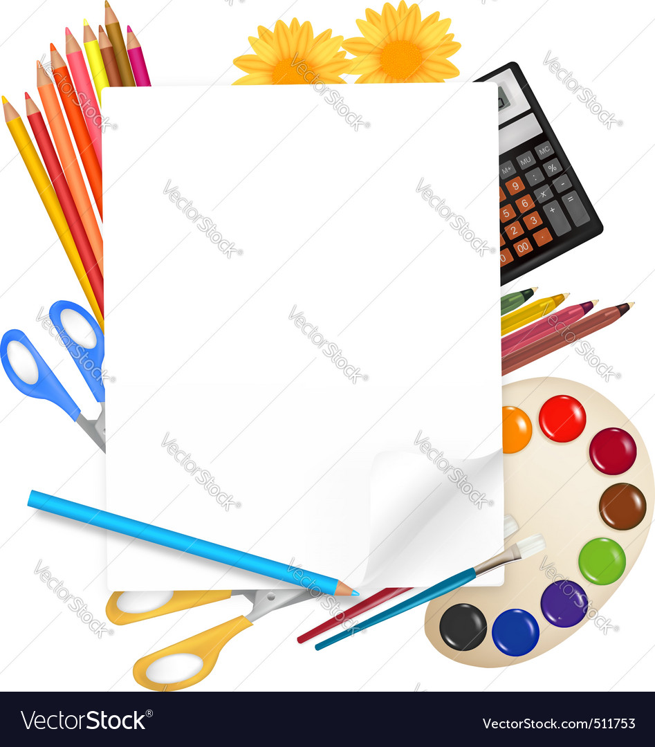 Back to school big set vector
