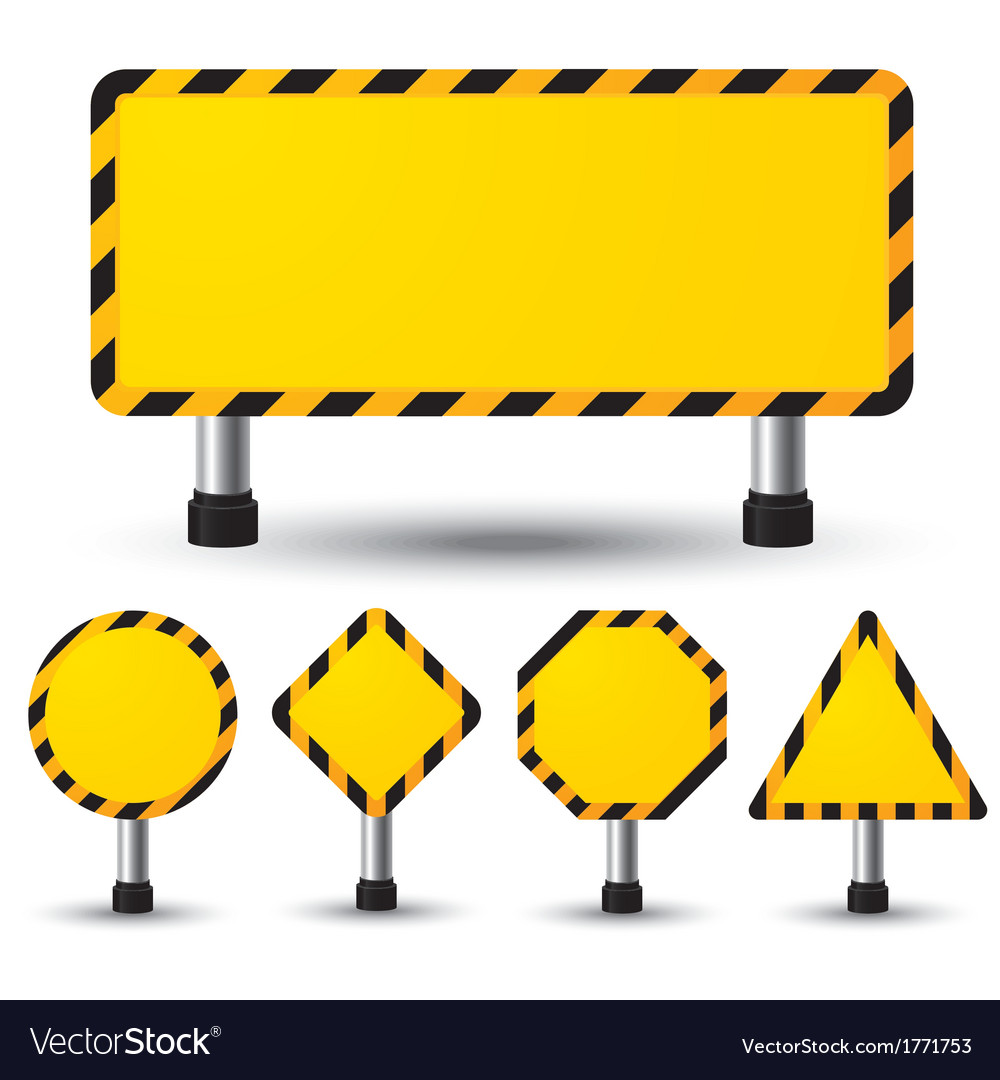 Empty construction sign vector