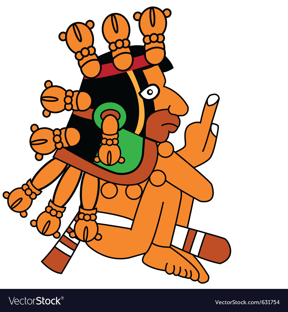 Warrior in style of the maya vector