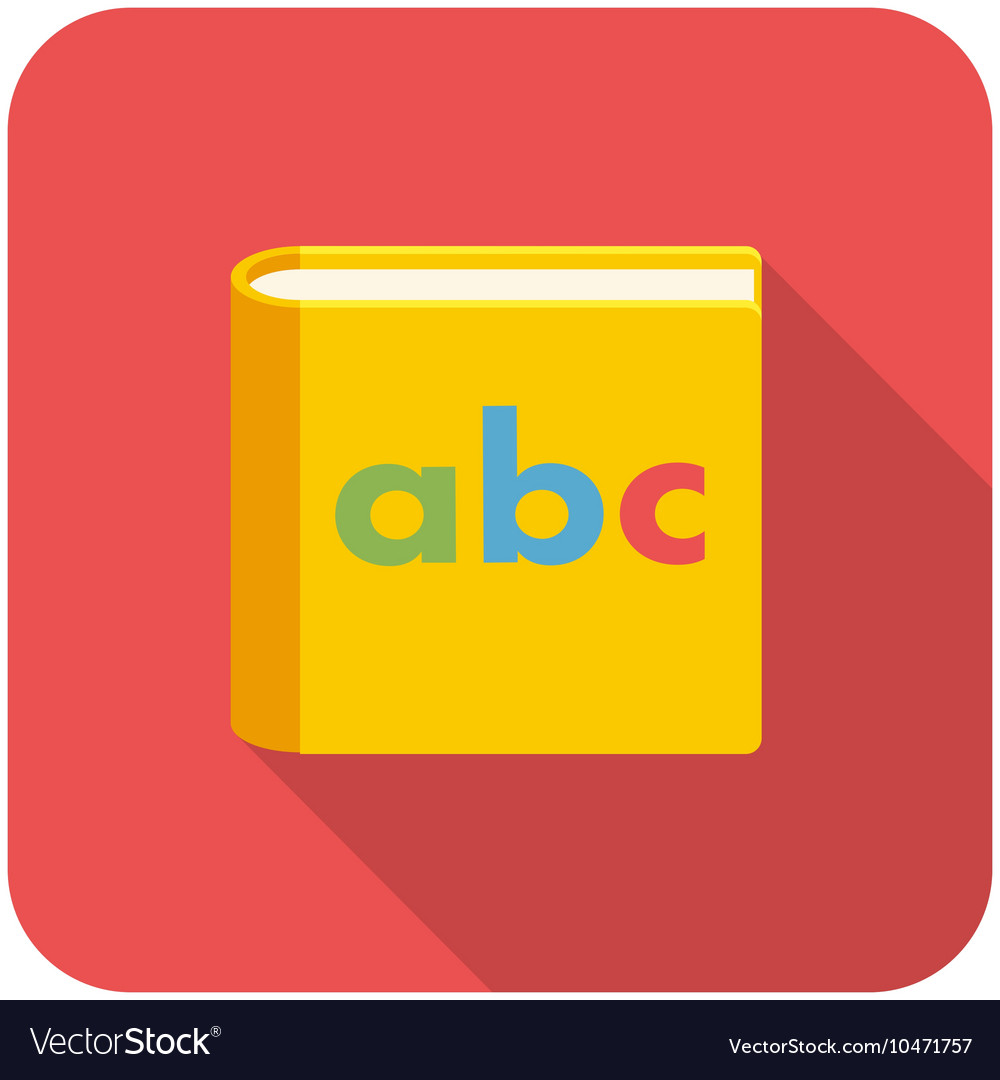 Alphabet book icon vector