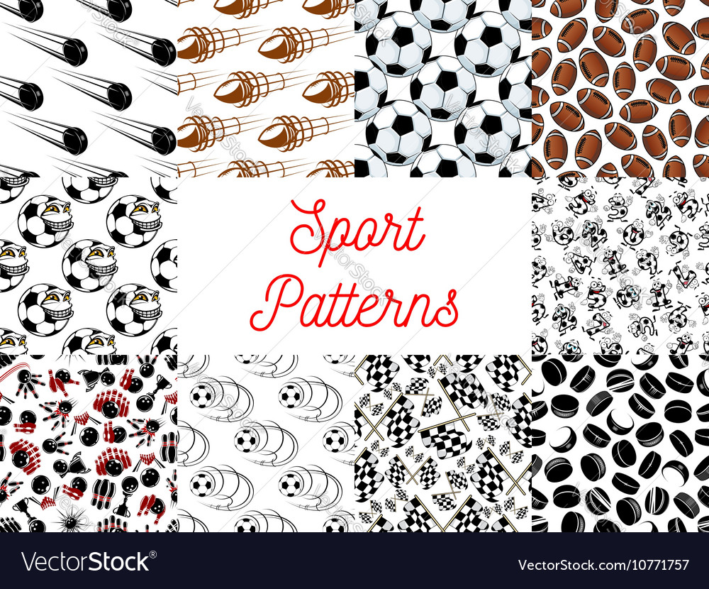Sport seamless pattern backgrounds vector