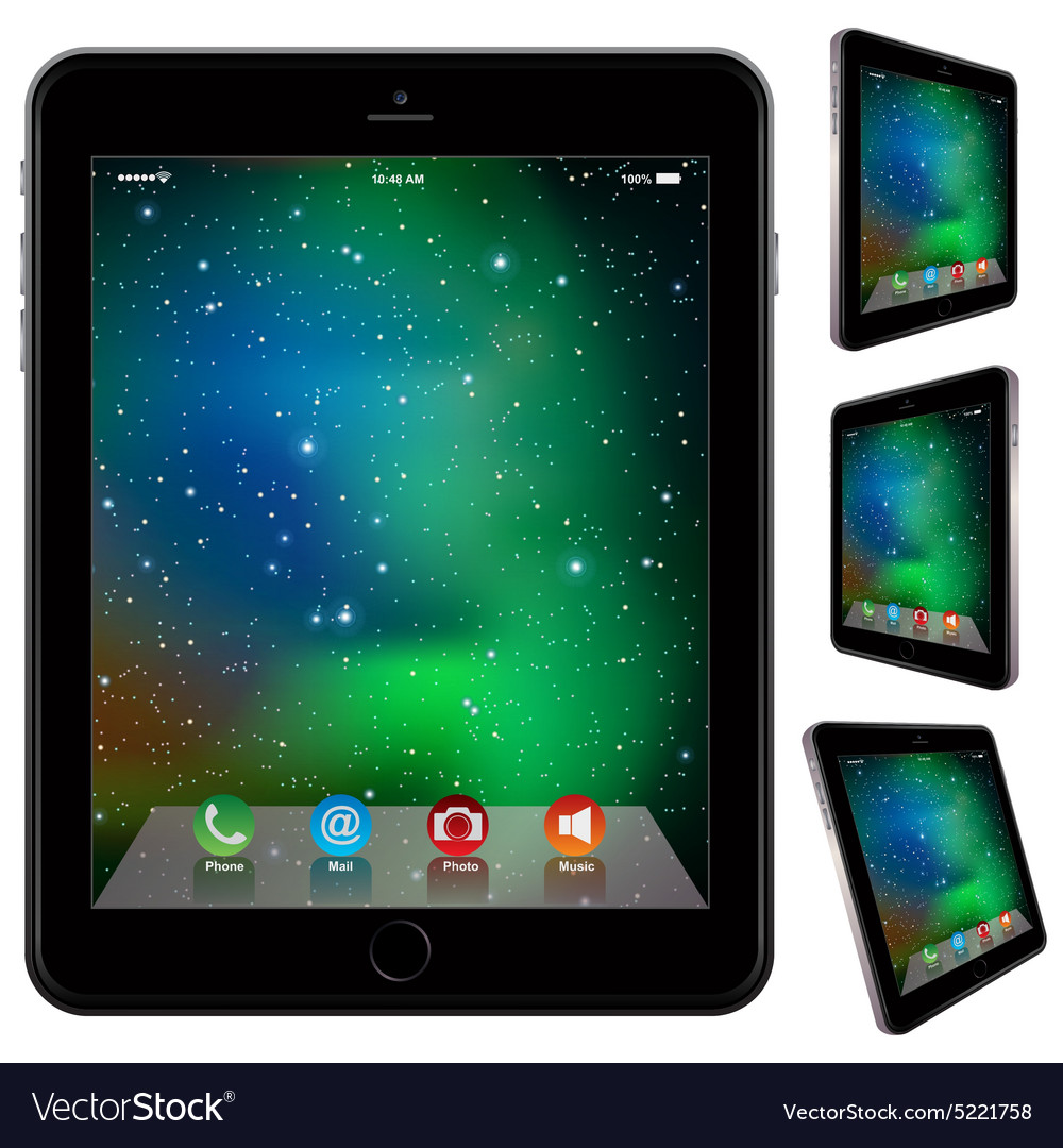 Photo realistic tablet similar to ipad style vector