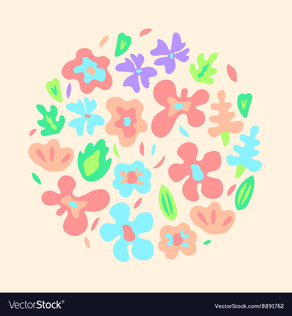 Large colorful flowers on black seamless pattern vector
