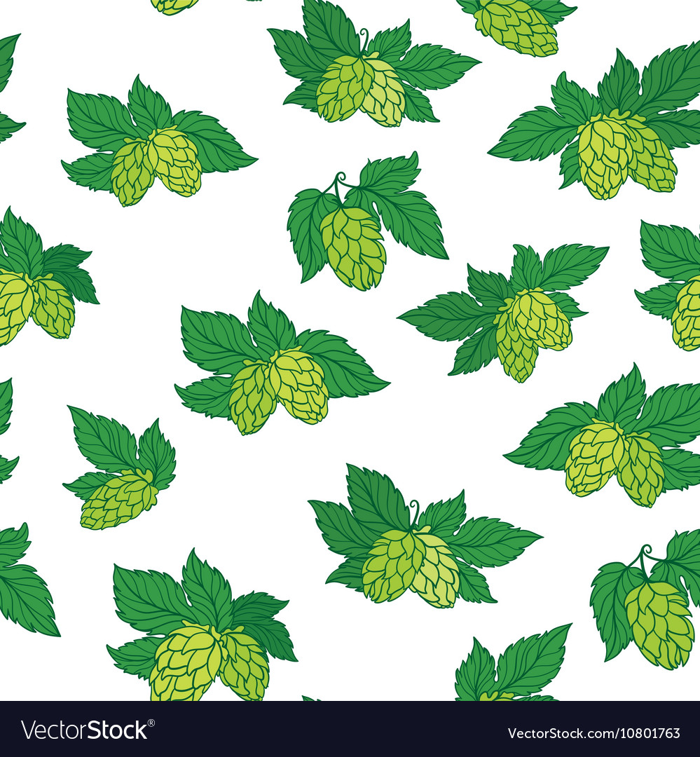 Hops pattern vector
