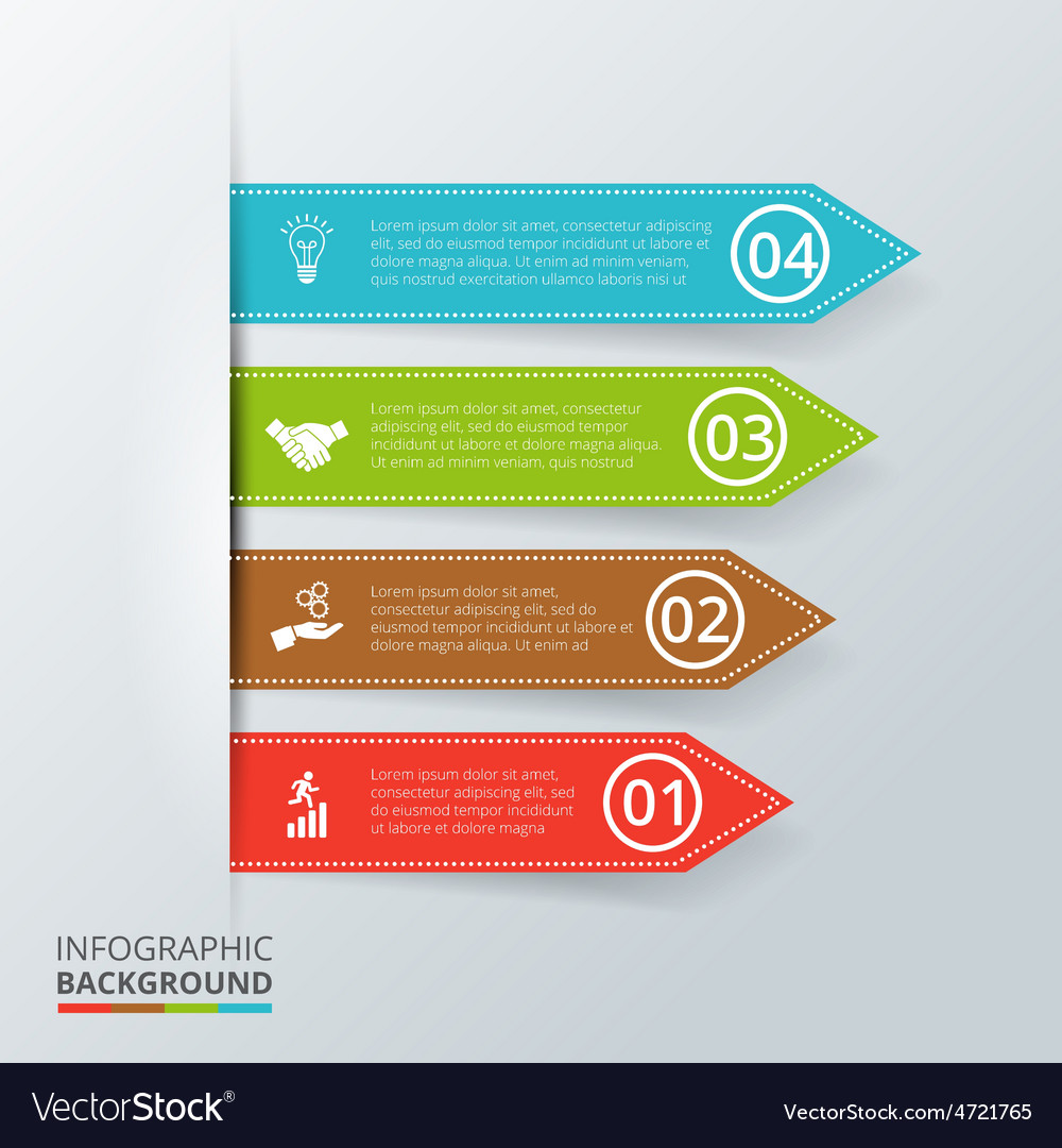 Arrows for infographic vector