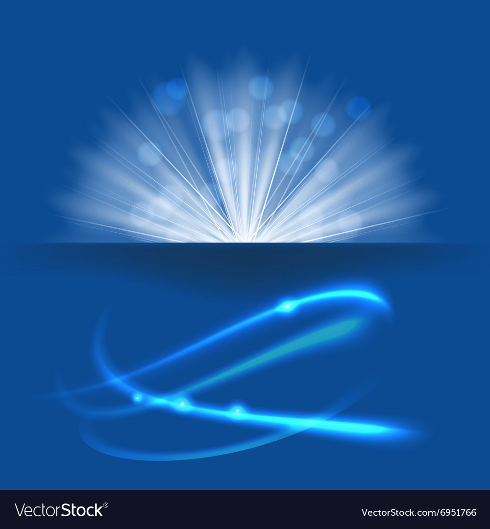 Blue light vector