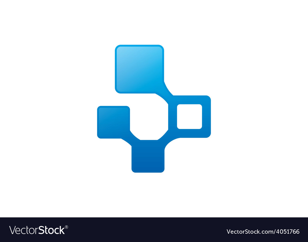 Business square technology logo vector