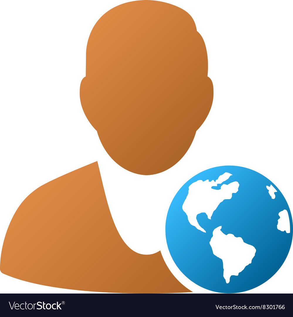 International manager gradient icon vector