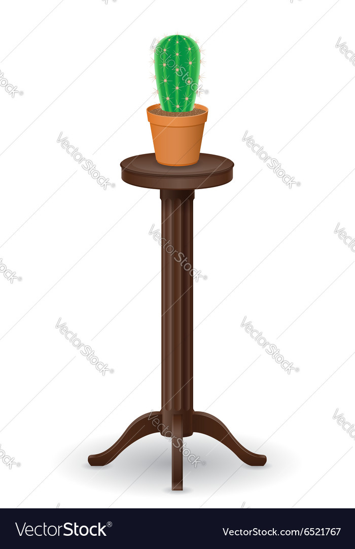 Stand for flowerpots 02 vector