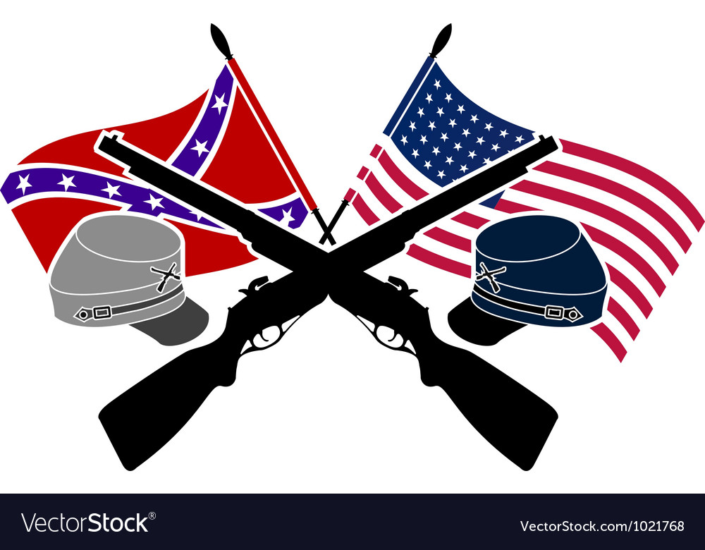American civil war stencil vector