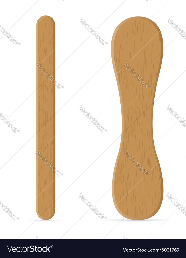 Wooden sticks for ice cream vector