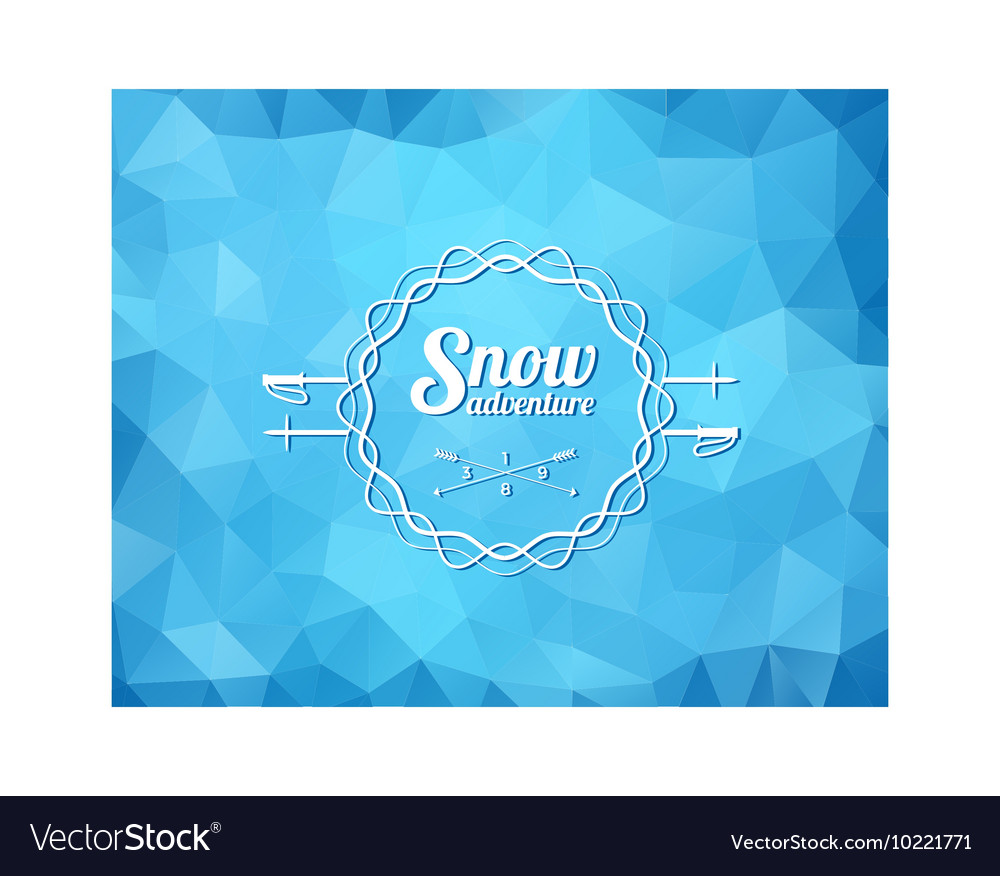 Ski resort logo vector