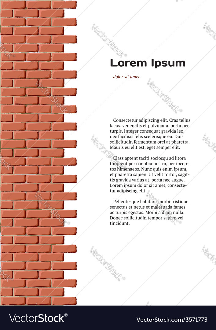 Brick wall identity vector